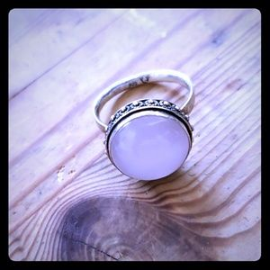 Rose Quartz Ring Size 9